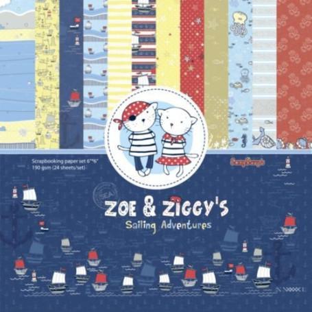Set de papier 15x15 Zoe & Ziggy's Sailing Adventures 24f – ScrapBerry's