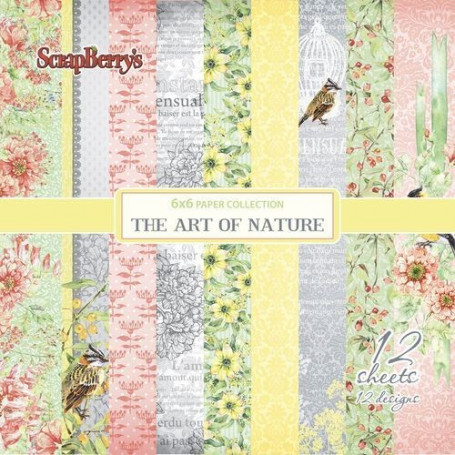 Set de papier 15x15 The Art of Nature 12f – ScrapBerry's
