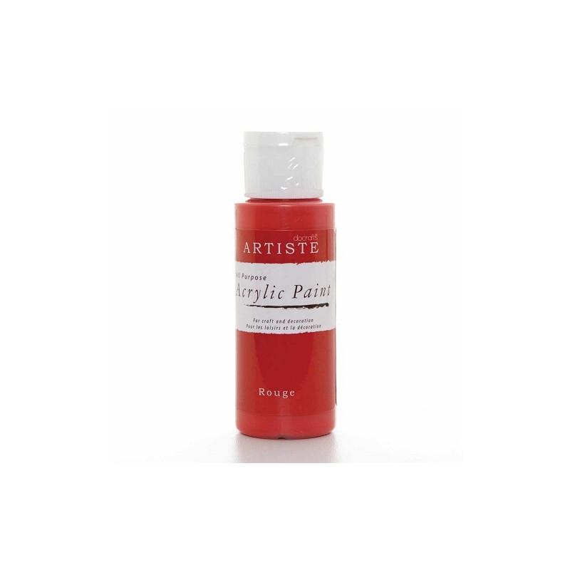 Peinture acrylique Rouge 59 ml – Docrafts Artiste