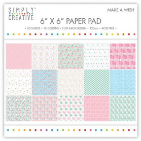 Set de papier 15x15 Make a Wish 30f – Simply Creative