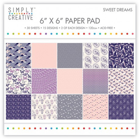 Set de papier 15x15 Sweet Dreams 30f – Simply Creative
