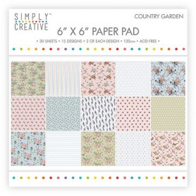 Set de papier 15x15 Country Garden 30f – Simply Creative