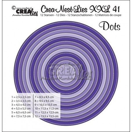 Dies Crea-Nest-Lies 41 XXL Circles with dots - Crealies