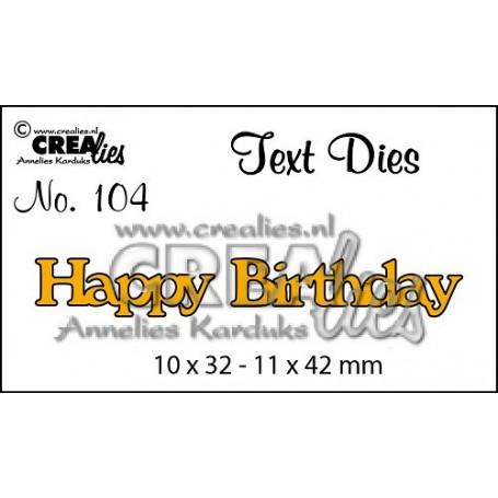 Die Texte en anglais Happy Birthday - Crealies