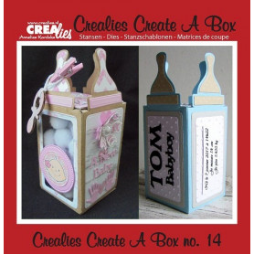 Dies Create A Box no 14 Baby Bottle - Crealies