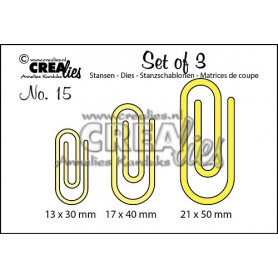 Dies Set of 15 Paperclips - Crealies