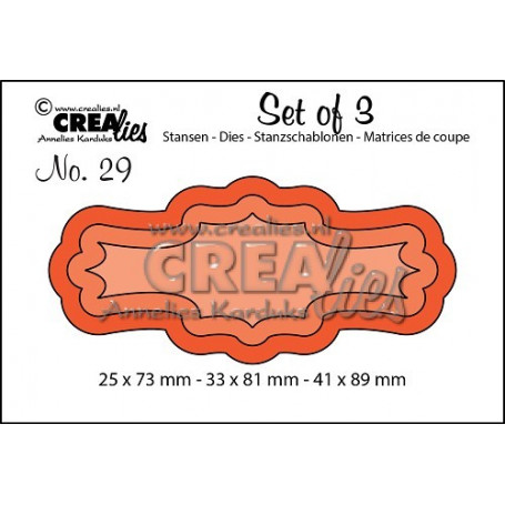Dies Set of 3 nr 29 Labels 3 - Crealies
