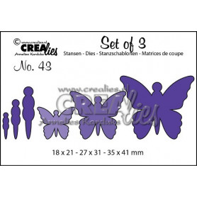 Dies Set of 3 nr 43 Butterflies 5 - Crealies