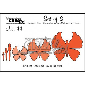 Dies Set of 3 nr 44 Butterflies 6 - Crealies