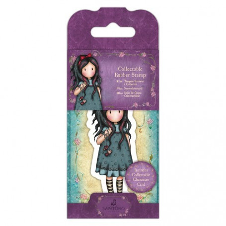 Collectable Rubber Stamp - Santoro - No. 22 Pulling on Your Heart Strings - Gorjuss