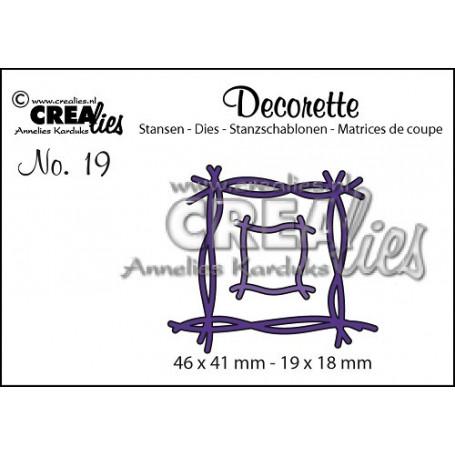 Decorette die 19 Twiggs - Crealies