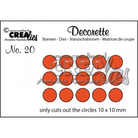 Dies Decorette 20 Only circles - Crealies