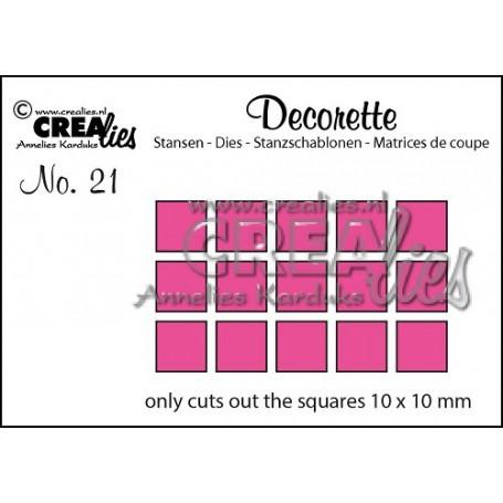 Dies Decorette 20 Only squares - Crealies