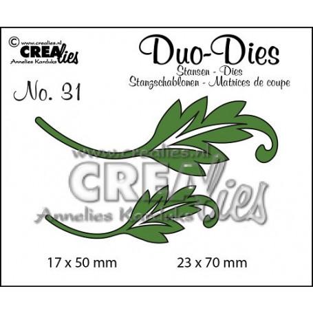 Duo Dies no. 31 Leaves 1 - Crealies