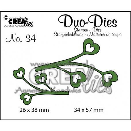 Duo Dies no. 34 Leaves 4 - Crealies