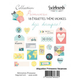 Etiquettes Primavera Vacances 18 pcs – Swirlcards