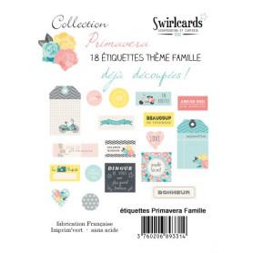 Etiquettes Primavera Famille 18 pcs – Swirlcards