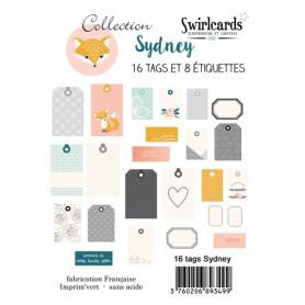 Tags et étiquettes Sydney 16 pcs – Swirlcards