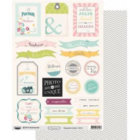 Etiquettes Confettis Famille A4 à découper – Swirlcards