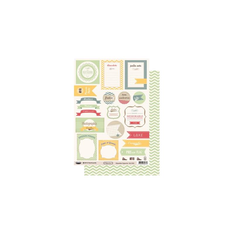 Etiquettes Capucine Vert A4 à découper – Swirlcards
