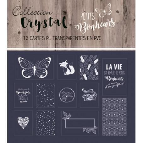 Cartes Transparentes Crystal Petits bonheurs blanc – Swirlcards
