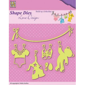 Dies Baby Build-up clothesline - Lene Design - Nellie's Choice