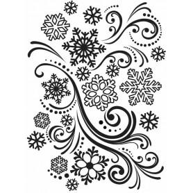 Classeur de gaufrage A6 Flocons de neige – Darice – Embossing folder Snowflake swirl