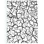 Classeur de gaufrage A6 Craquelé – Darice – Embossing folder Crackle