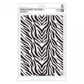 Classeur de gaufrage A4 Zèbre – Xcut – Embossing folder Zebra Print