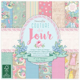 Set de papier 15x15 Back To Basics Couture du jour 72f – Dovecraft