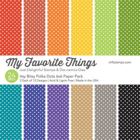 Set de papier 15x15 Itsy Bitsy Polka Dots 24f – My Favorite Things