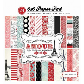 Set de papier 15x15 Amour 24f – Carta Bella