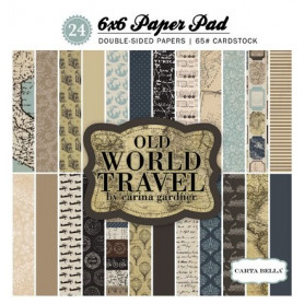 Set de papier 15x15 Old World Travel 24f – Carta Bella