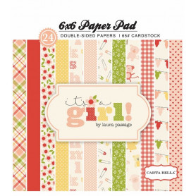 Set de papier 15x15 It's a girl 24f – Carta Bella