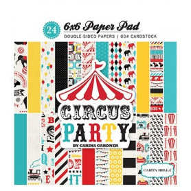 Set de papier 15x15 Circus Party 24f – Carta Bella
