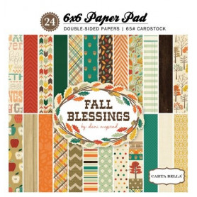 Set de papier 15x15 Fall Blessings 24f – Carta Bella