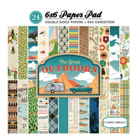 Set de papier 15x15 The Great Outdoors 24f – Carta Bella