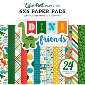 Set de papier 15x15 Dino friends 24f – Echo Park