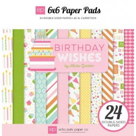 Set de papier 15x15 Birthday wishes 24f – Echo Park