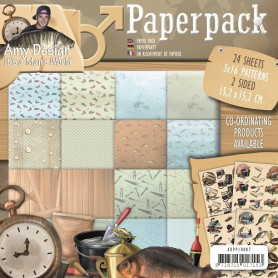 Set de papier 15x15 It's a Man's world 24f – Amy Design