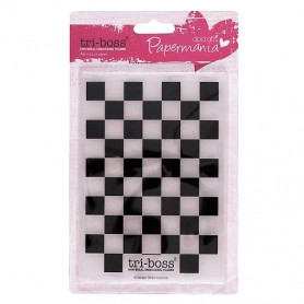 Classeur de gaufrage A6 Damier - Docrafts Papermania Embossing folder Chequered