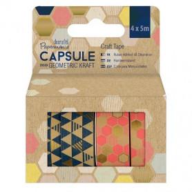 Craft Tape Geometric Kraft 4x5 m - Capsule - Docrafts Papermania