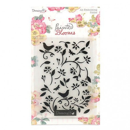 Classeur de gaufrage A6 Painted Blooms – Dovecraft – Embossing Folder