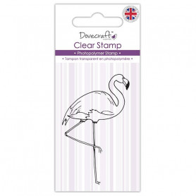 Tampon Flamant rose – Dovecraft Clear stamp Flamingo