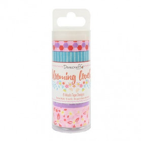 Washi Tape Set Blooming Lovely 6pc - Docraft