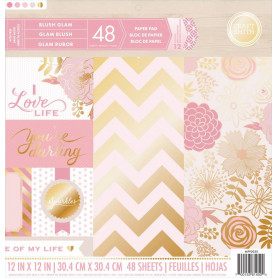 Set de papier 30x30 Blush Glam 48f - Craft Smith
