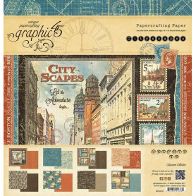 Set de papier 30x30 Cityscapes 24f – Graphic 45