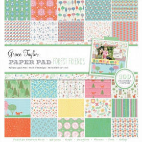 Set de papier 30x30 Forest Friends 100f – Grace Taylor