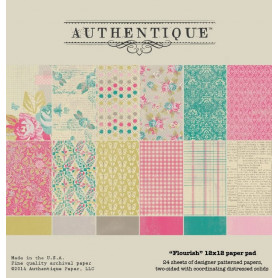 Set de papier 30x30 Flourish 24f - Authentique