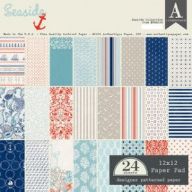 Set de papier 30x30 Seaside 24f - Authentique
